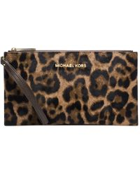 Michael Kors Michael Bedford Large Zip Clutch - Lyst