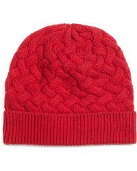 Brooks Brothers Wool Cable Knit Hat - Lyst