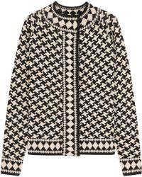 Temperley London Empire Jacquard Knit Merino Wool Jacket - Lyst