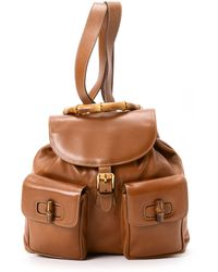Gucci Brown Backpack - Lyst