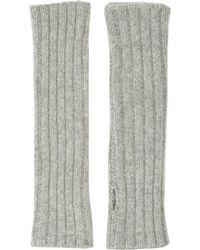 Barneys New York Rib-knit Fingerless Arm Warmers - Lyst