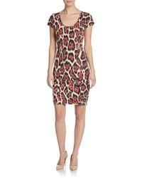 Just Cavalli Leopard Print Jersey Dress - Lyst