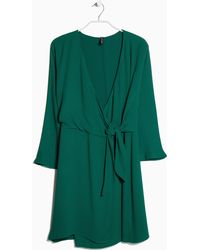 Mango Bow Wrap Dress - Lyst