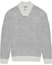 Reiss Checker Textured Weave Jumper - Lyst