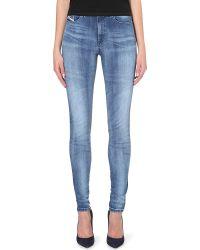 Diesel Skinzee Skinny Highrise Jeans Black - Lyst