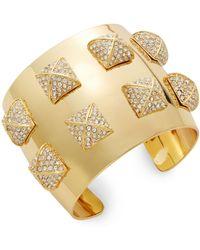 CC SKYE Pavé Pyramid Studded Cuff Bracelet - Lyst