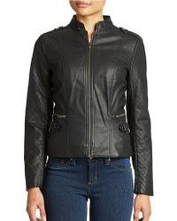 Jessica Simpson Dean Faux Leather Moto Jacket - Lyst