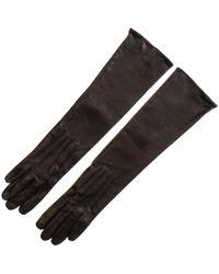 Black.co.uk Long Black Leather Gloves – Silk Lined - Lyst