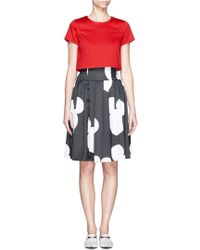 Helen Lee - Mickey Mouse Print Pleated Skirt - Lyst