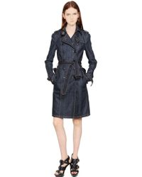 Burberry Brit Cotton Denim Trench Coat - Lyst