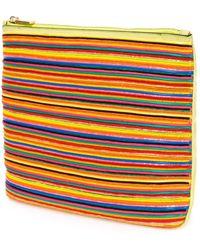 CALVIN KLEIN 205W39NYC - Beaded Stripe Clutch - Lyst