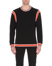Diesel S-Roku Striped Cotton-Jersey Sweatshirt - For Men black - Lyst