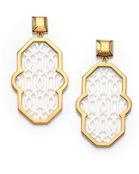 Tory Burch Chantal Perforated Drop Earrings - Lyst