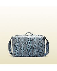 Gucci Python Diaper Bag - Lyst