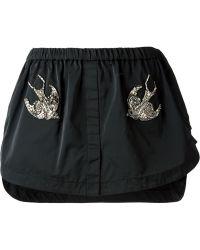 N°21 Embellished Skirt - Lyst