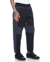 Casely-Hayford - Cranmore Paneled Drawstring Wool-blend Trouser - Lyst