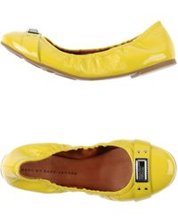 Marc By Marc Jacobs Yellow Ballet Flats - Lyst
