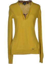 Just Cavalli Yellow Jumper - Lyst