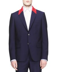 Alexander McQueen Contrast Collar Twobutton Jacket - Lyst