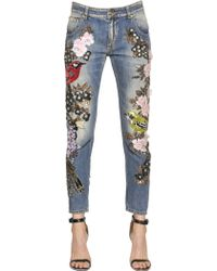 Amen - Couture Embellished Cotton Denim Jeans - Lyst