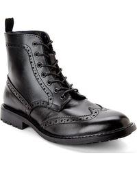Joseph Abboud Black Philip Wingtip Boots - Lyst