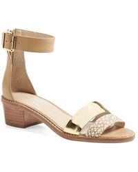 Loeffler Randall 'Henry' Leather Sandal - Lyst
