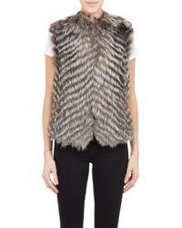 Barneys New York Fox Fur Vest - Lyst