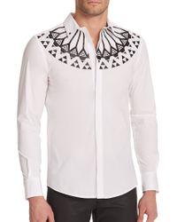 Versace Monochrome Printed Sportshirt white - Lyst