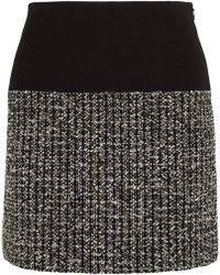 Bouchra Jarrar Bouclé-Tweed And Crepe Mini Skirt - Lyst