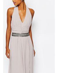 TFNC London - Wedding Chiffon Occasion Belt With Embellishment In Opal Grey - Lyst