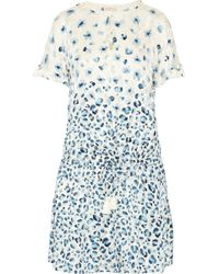 Tory Burch Odila Printed Silk Fil Coupé Dress - Lyst