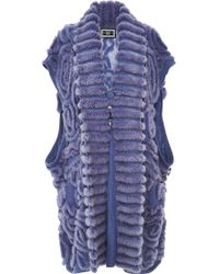 Helen Yarmak International - Blue Cashmere Vest With Mink Embellishments - Lyst
