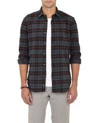 Aspesi Plaid Flannel Shirt - Lyst