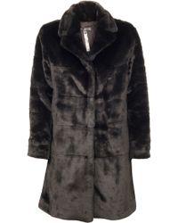 Marc By Marc Jacobs Airglow Faux Fur Jacket black - Lyst