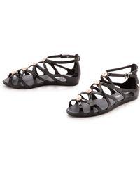 Melissa  Karl Lagerfeld Violatta Sandals - Black - Lyst