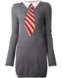 Sonia Rykiel Printed Knit Dress - Lyst