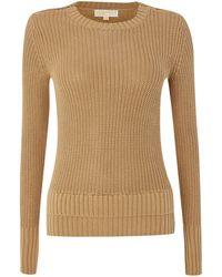 Michael Kors Long Sleeved Crew Neck Sweater - Lyst