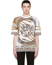 Versace White Rope Medusa T_Shirt - Lyst