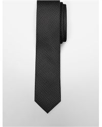 CALVIN KLEIN 205W39NYC - Classic Fit Micro Dot Textured Silk Tie - Lyst