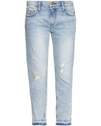 Current/Elliott The Cropped Straight Low-Rise Jeans - Lyst