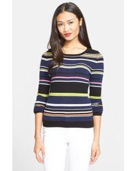 Diane von Furstenberg 'Jolanta' Stripe Cashmere Sweater - Lyst
