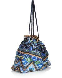 Matthew Williamson - Printed Cottoncanvas Shoulder Bag - Lyst