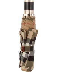 Burberry Prorsum - Check-print Collapsible Umbrella - Lyst