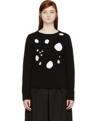 Comme des Garçons Black Knit Holes Sweater - Lyst