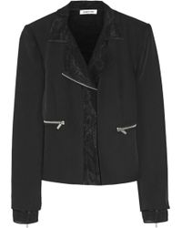 Elizabeth And James Brighton Layered Crepe And Silk-Chiffon Jacket - Lyst