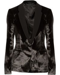 Rag & Bone March Crepe-trimmed Velvet Blazer - Lyst