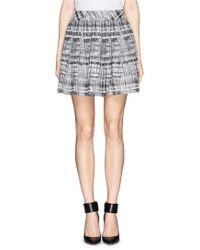 Alice + Olivia Floral-Print High-Low Skirt black - Lyst
