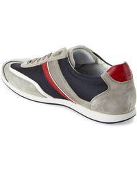 BOSS | Grey & Navy Sneakers | Lyst