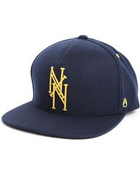 Nixon Bronx Navy Yellow Snap Back Cap - Lyst