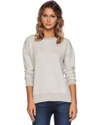 Vince Color Jacquard Sweater Indove & Off White - Lyst